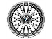 BMW 550i Cross Spoke 312 - Front (Single Wheel) / Ferric Grey - 36116792596