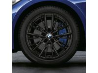 BMW M Performance 18 inch Style 796M Black Cold Weather Wheel &  Tire Set - Front - 36112462648