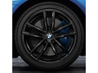 BMW 540i xDrive 18-Inch M Performance Double-spoke 662M Complete Performance Wheel and Tire Set - Jet Black - 36112459547