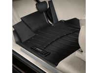 BMW X6 Rear All Weather Floor Liners / Black - 82112285517