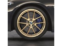 BMW M850i xDrive 20 Inch Style 763M Frozen Gold M Performance Complete Wheel Set - 36112459552