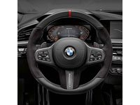 BMW M235i xDrive Gran Coupe M Performance Steering Wheel Cover in Carbon Fiber and Leather / Vehicles WITHOUT Steering Wheel Heating - 32302463595