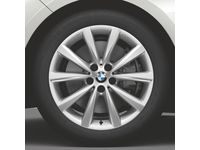 BMW M850i xDrive Winter Complete Wheel and Tire Set, Style 642, Silver. - 36112462558