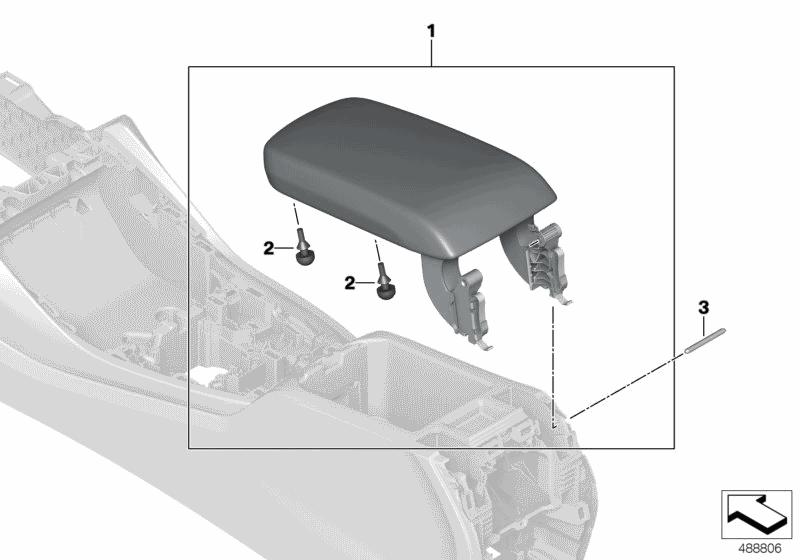 2019 Bmw X3 M40i G01  Armrest  Centre Console