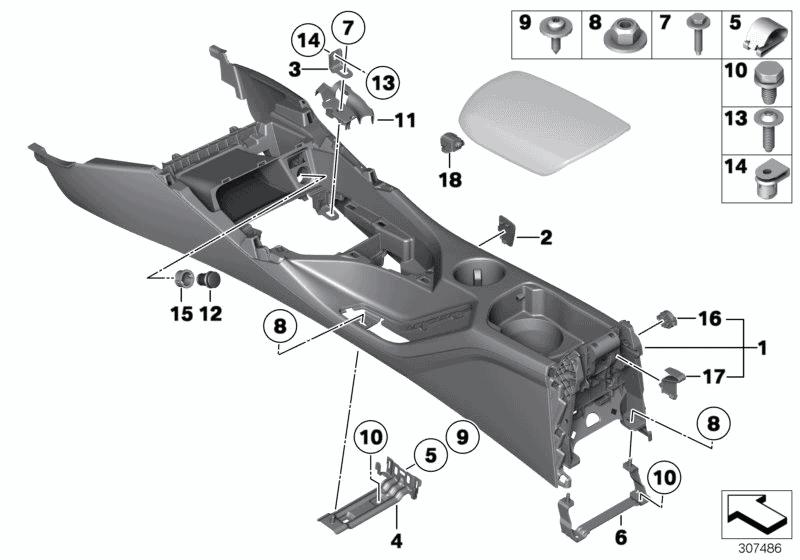 2015 Bmw X1 Xdrive28i E84  Centre Console