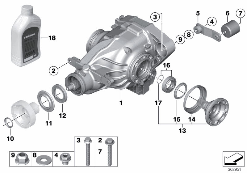 2011 BMW 1 Series M Coupe(E82) Differential - Drive / Output