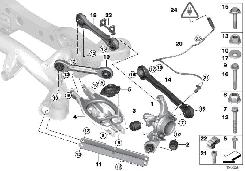 2013 BMW 128i Coupe N52 Engine(E82) Rear Axle Support / Wheel Suspension