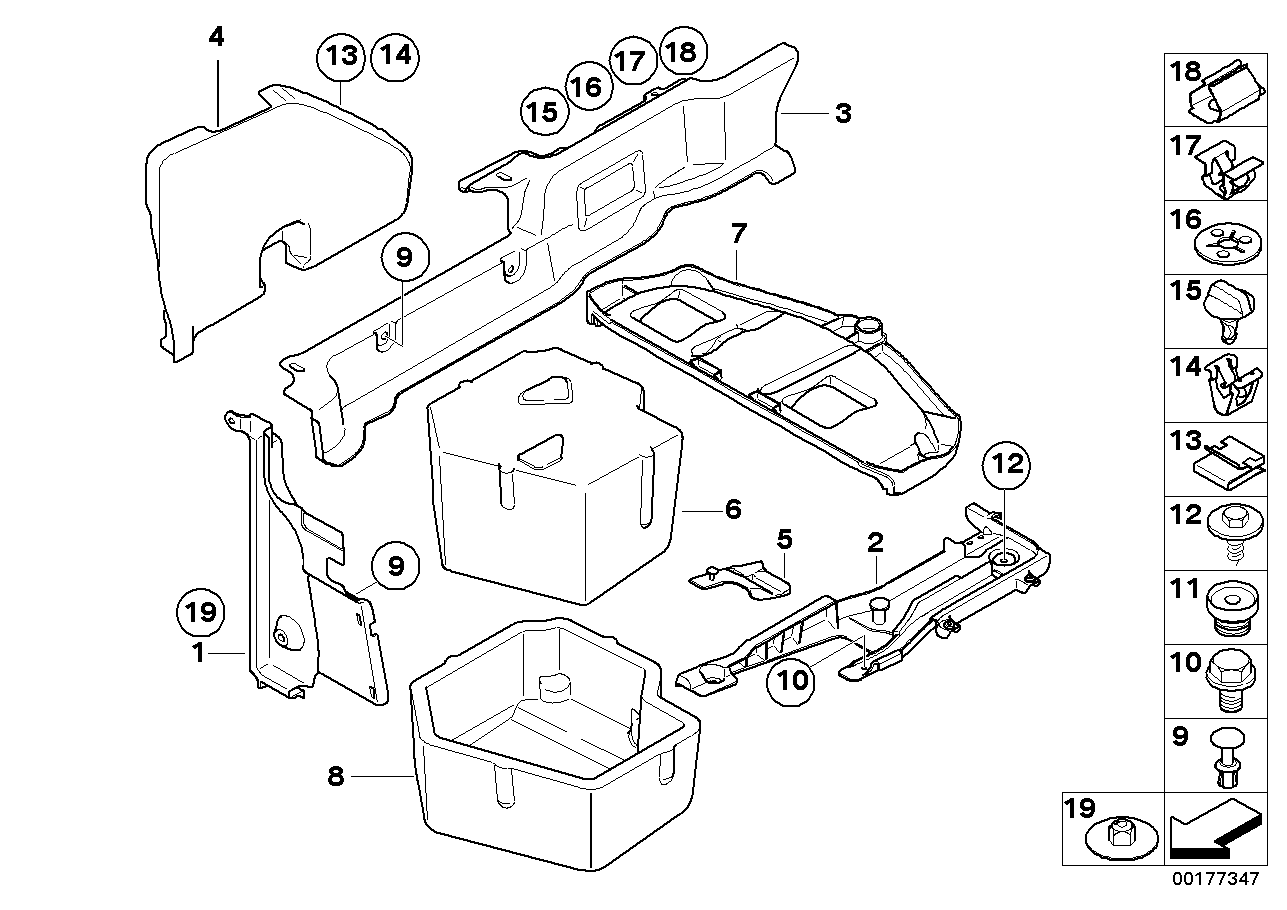 08 BMW E93 M3 Convertible Manual CCC Center Console Cover Shifter Trim Panel