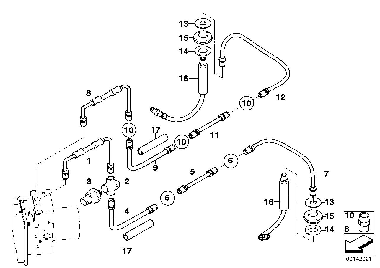 2007 bmw 525i brake diagram 34326772486 genuine bmw pipe  34326772486 genuine bmw pipe