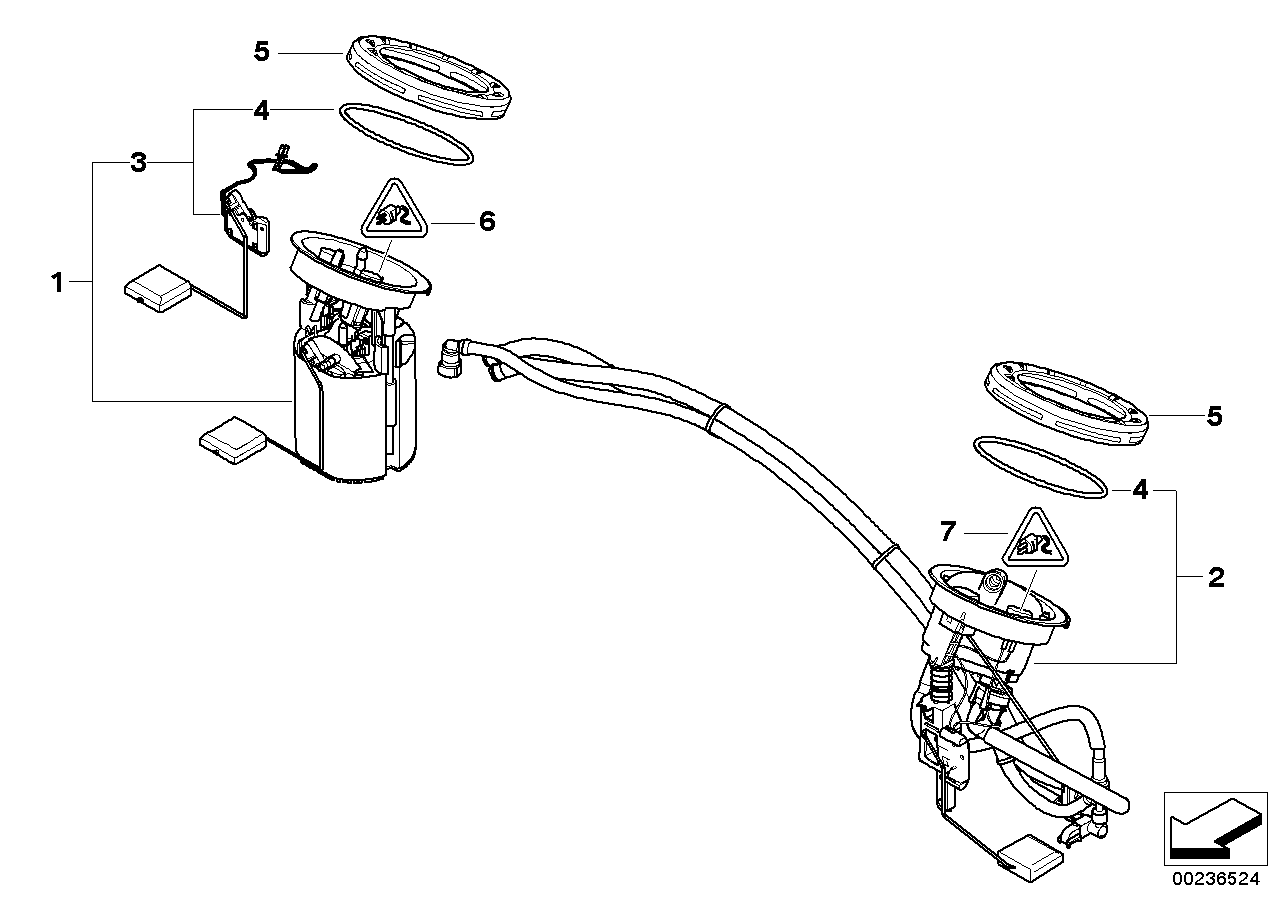 bmw fuel pump diagram 16117163295 genuine bmw parts  16117163295 genuine bmw parts