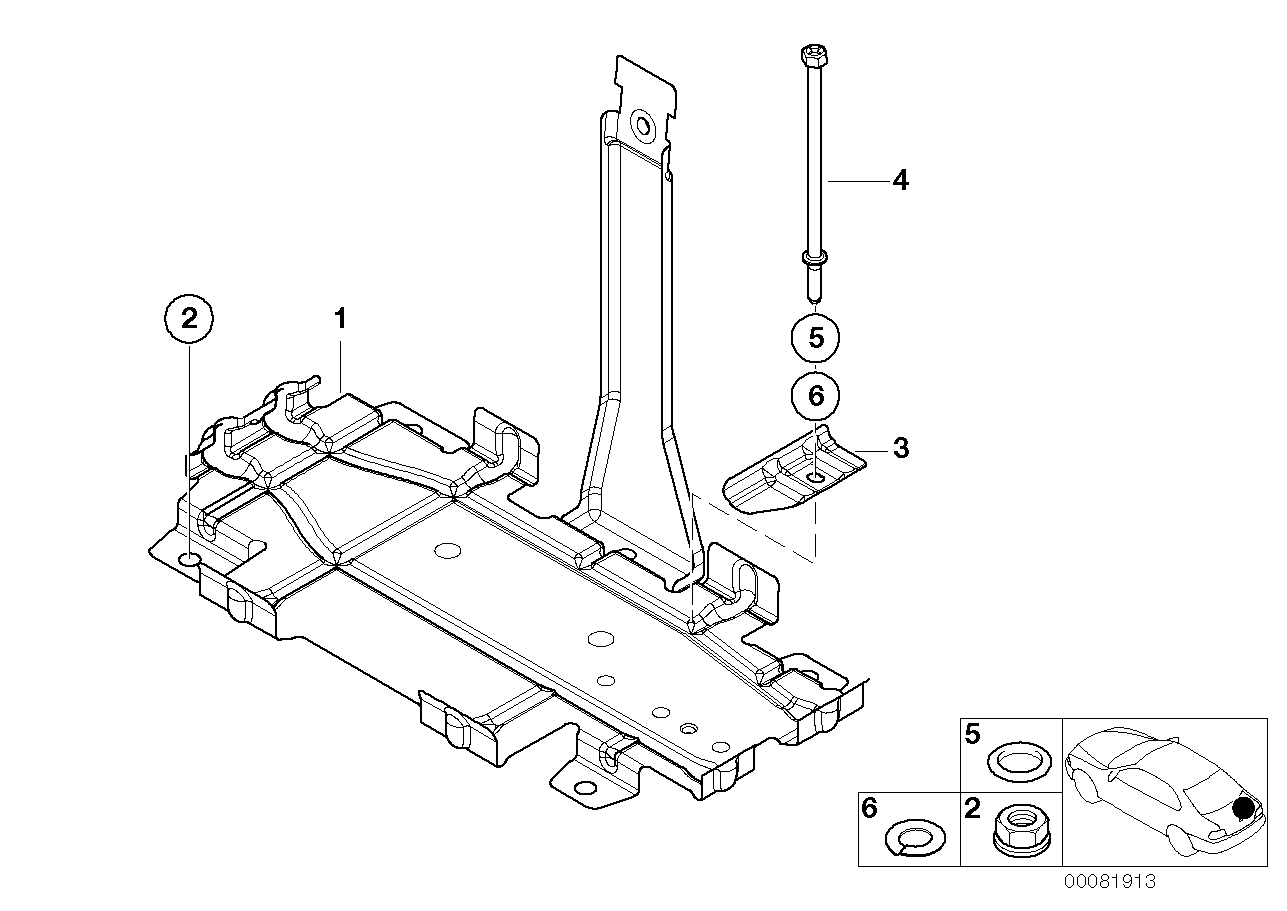 2003 Bmw 325ci Coupe M54 Engine E46  Battery Tray
