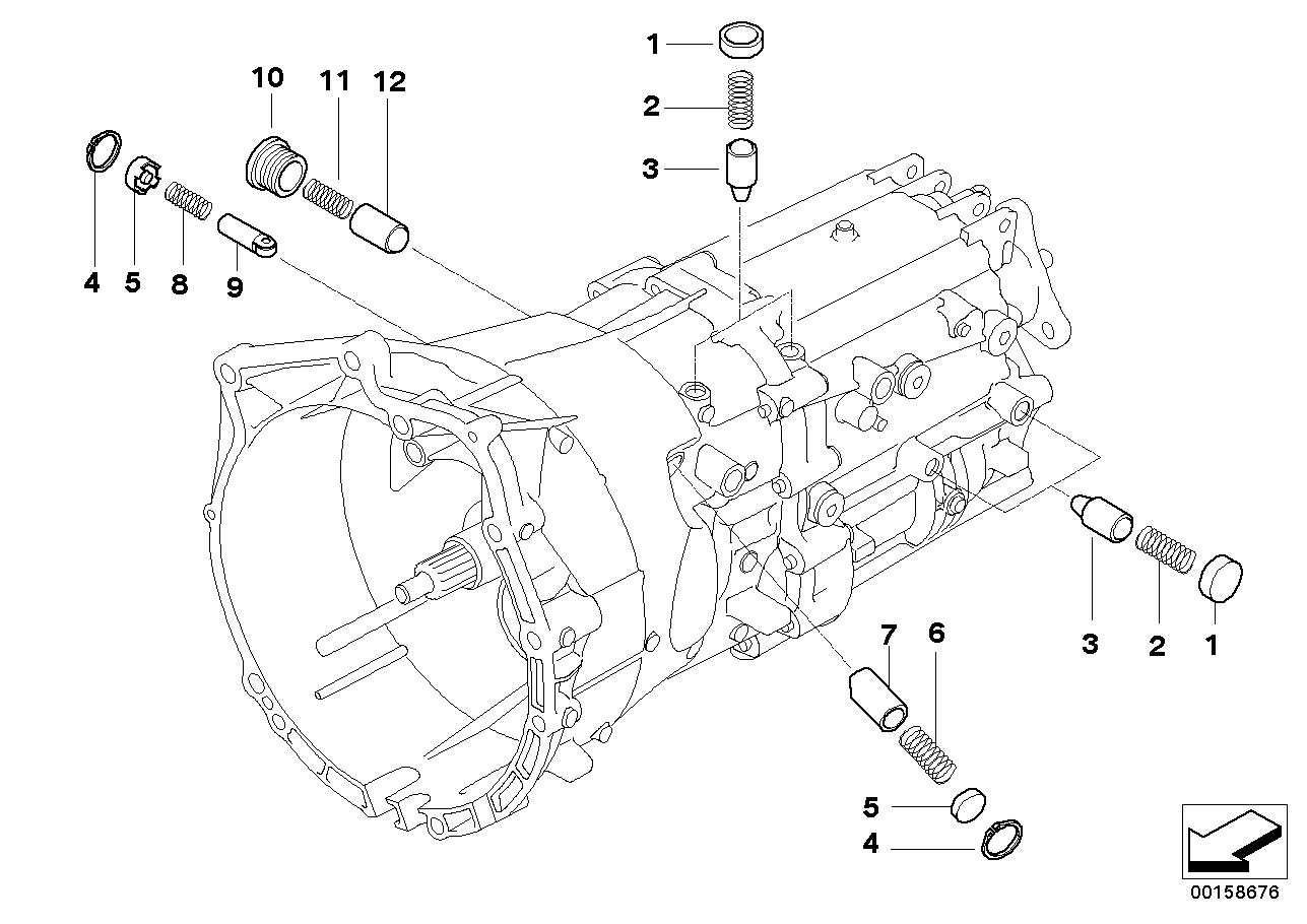 2003 Bmw 325ci Coupe M54 Engine E46  Gear Shifting Parts
