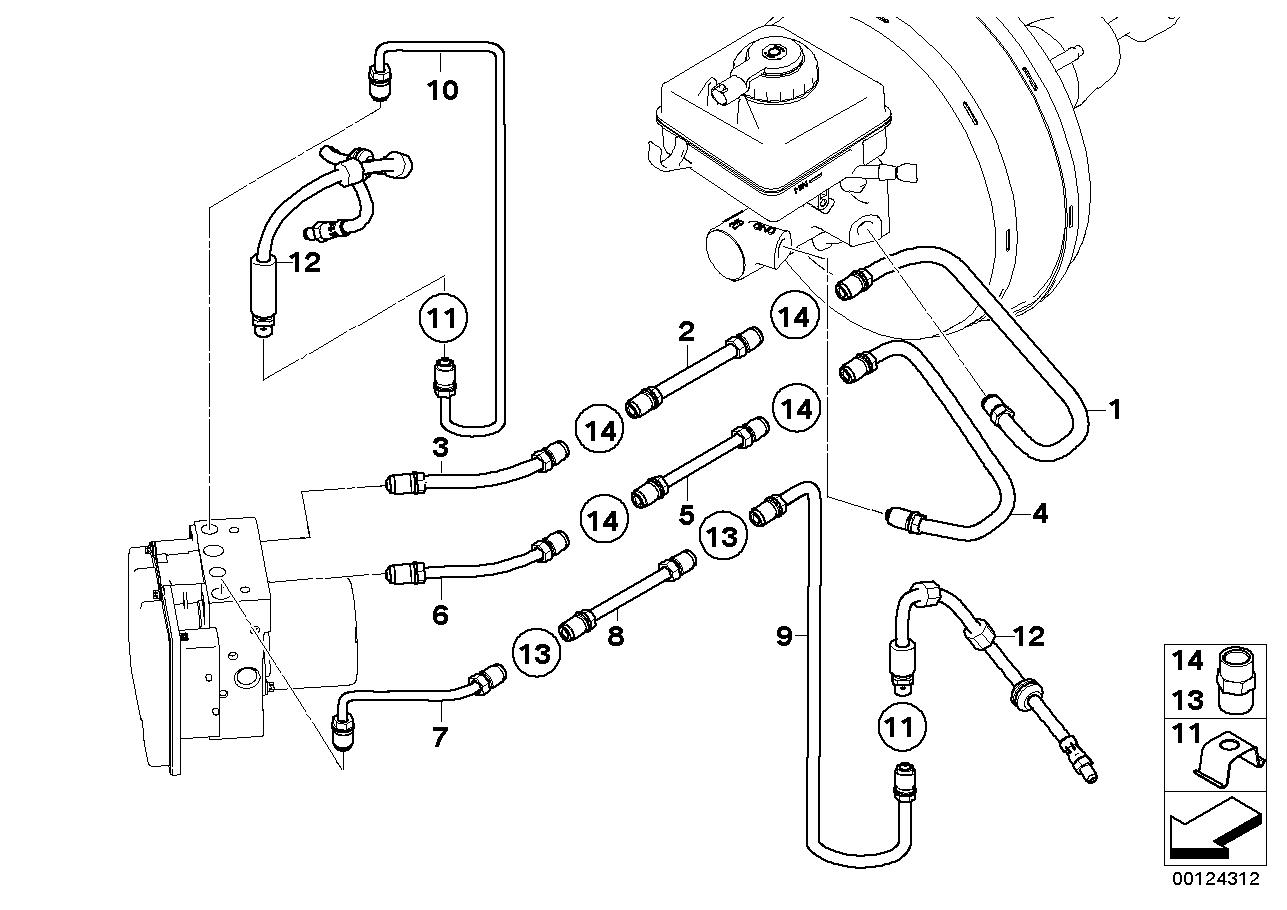 2007 bmw 525i brake diagram 34326772525 genuine bmw pipe  34326772525 genuine bmw pipe