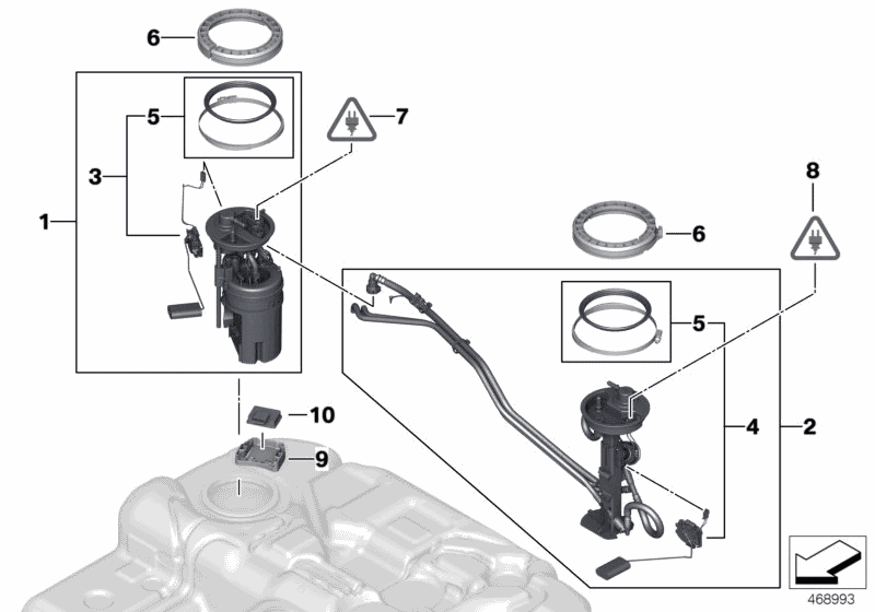bmw fuel pump diagram 16117212585 genuine bmw parts  16117212585 genuine bmw parts