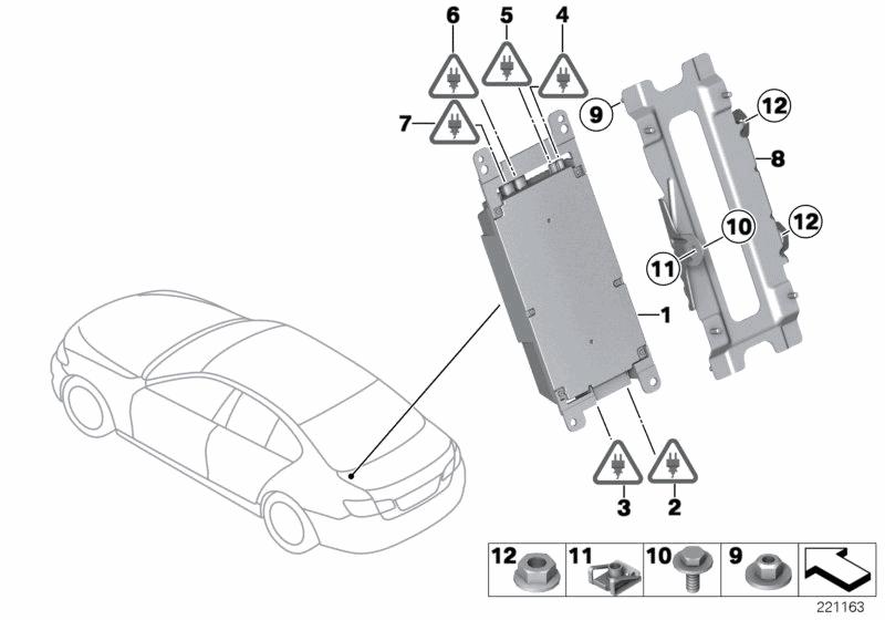 2013 BMW 535i Sedan(F10) Combox Telematics - BMW Parts Deal