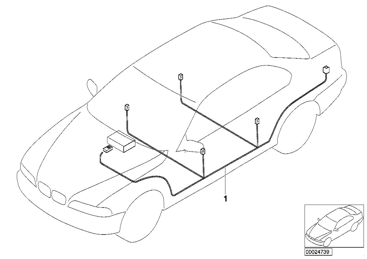 2003 BMW 325i Wagon M56 Engine(E46) Audio Wiring Harness Harman Kardon Wiring Diagram Bmw I on