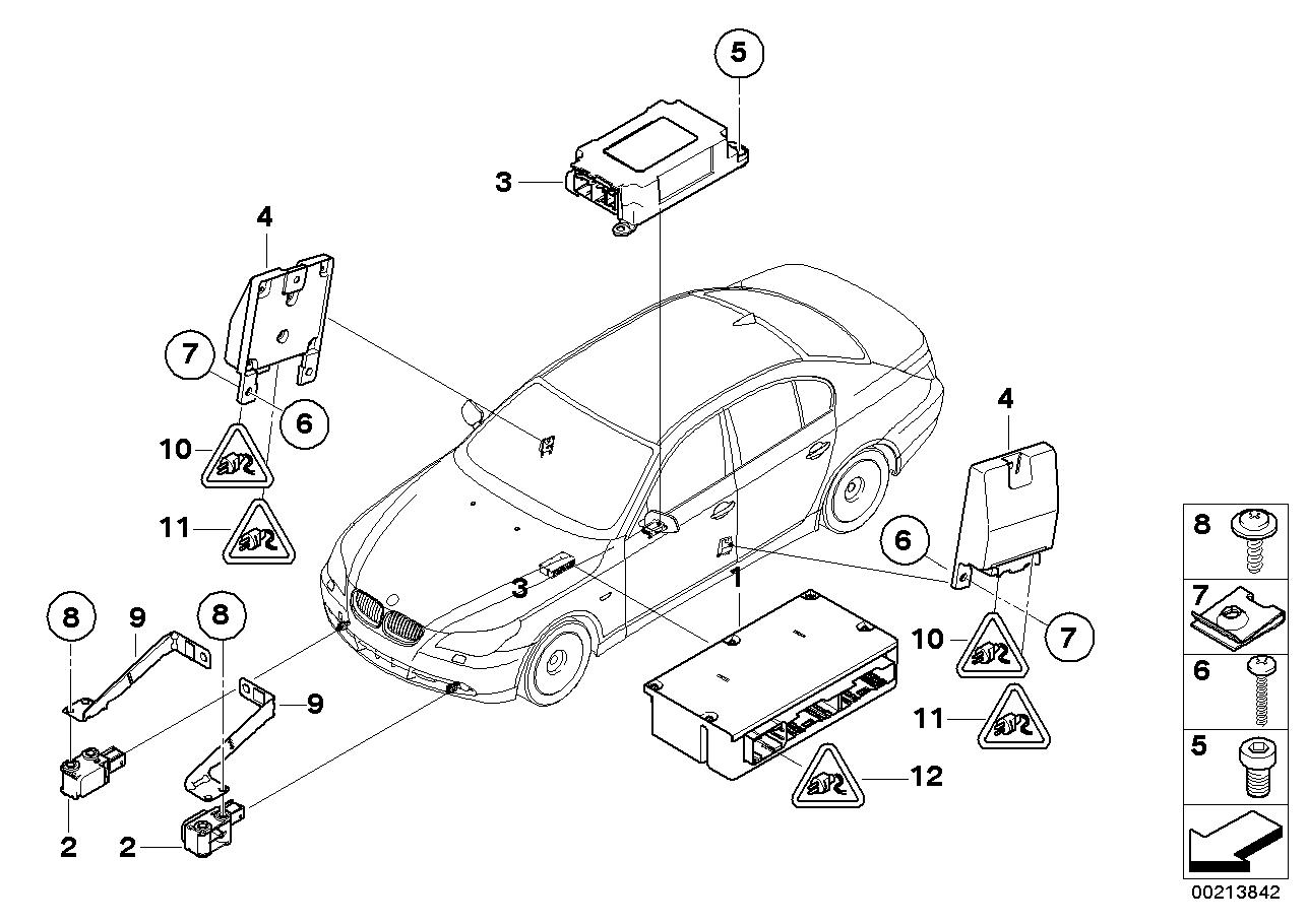 2007 bmw 525i brake diagram 65772298859 genuine bmw exchange ecu airbag with gateway  genuine bmw exchange ecu airbag