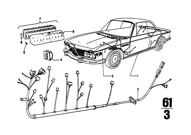 1974 BMW 3.0CS Wiring Harness - BMW Parts DealBMW Parts