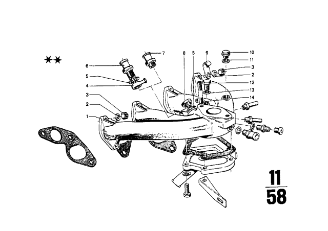 1972 BMW 2002 Intake Manifold - BMW Parts DealBMW Parts