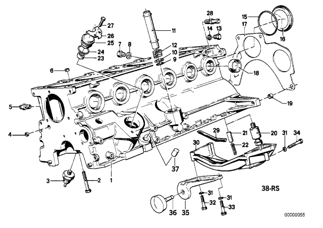 [SCHEMATICS_48IS]  11151280938 - Genuine BMW Pipe | 1991 Bmw 525i Engine Diagram |  | BMW Parts