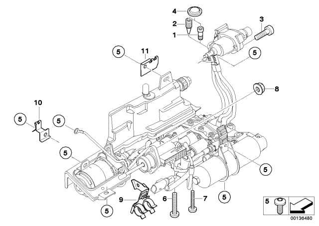 2006 Bmw 550i Sedan E60 Hydraulic Mounting Gs6s53bz Smg