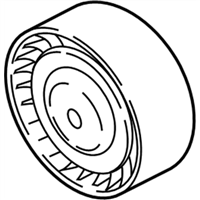 BMW 640i xDrive A/C Idler Pulley - 11287615130