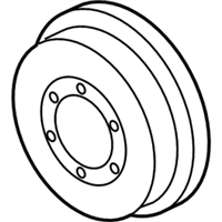 BMW 740i Crankshaft Pulley - 11238638534