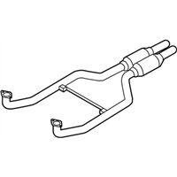 BMW Alpina B7 xDrive Exhaust Pipe - 18307578194